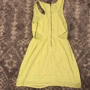 American Eagle Outfitters Dresses - Neon yellow dress w/ side cut outs